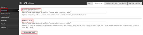 URL aliases   Drupal tutorial - Master Drupal in 7 hours
