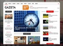 Gazeta - News & Magazine Drupal 8 Theme