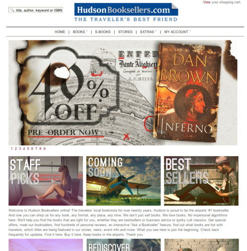 Hudson Book Seller website