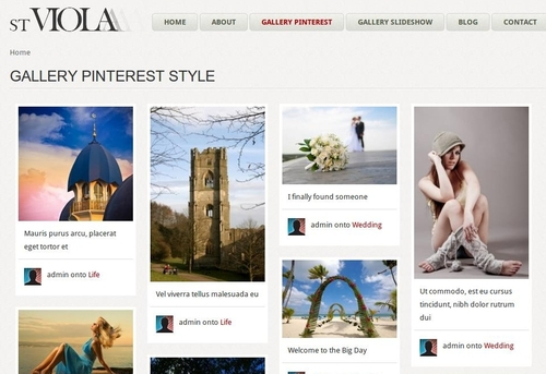 ST Viola Pinterest layout