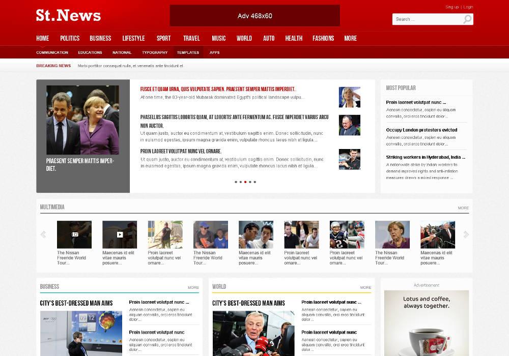 drupal news themes