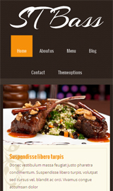 Drupal theme ST Bass demo - Mobile screen