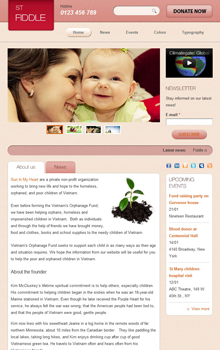 Drupal theme ST Fiddle demo - Tablet screen