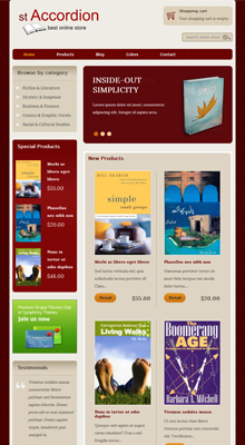 Drupal theme ST Accordion demo - Tablet screen